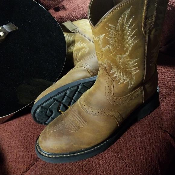a475c93ce64 Ariat Sierra Saddle Steel Toe Boot (like new!)
